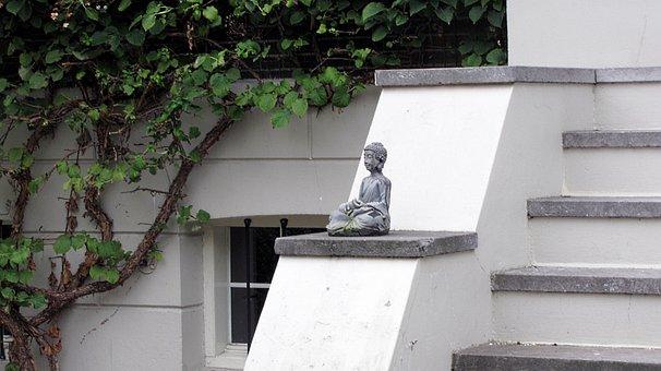 Buddha, Meditation, Garden Statue, Grapes Rank