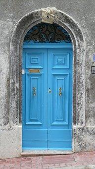 Front Door, Malta, Old, Hinged Door