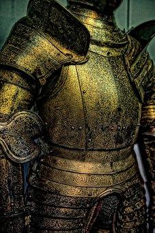 Knights Armor, Suit Of Armor, Metal, Vintage