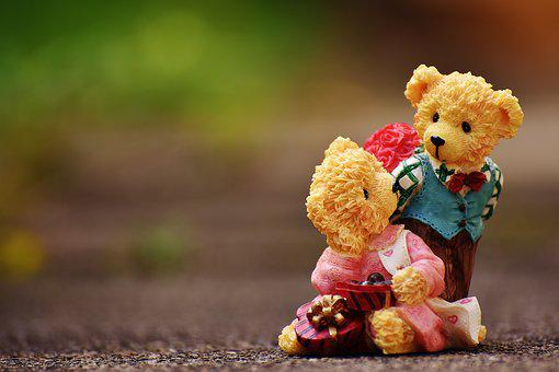 Lovers, Love, Valentine's Day, Bear, Figures, Funny