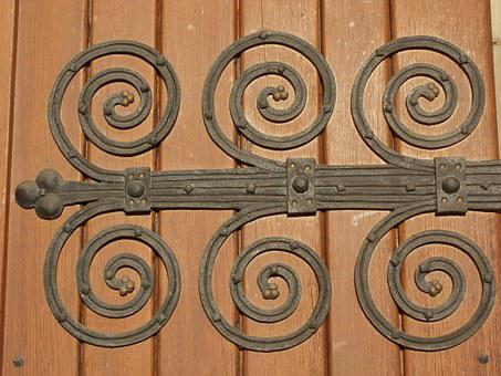 Decorative, Hinges, St Sebastian, Ketsch, Door, Metal