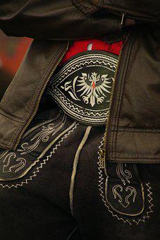 Costume, Lederhose, Leather, Nero, Tyrolean, Ornament