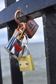 Padlocks, Padlock Of Lovers, The Pier, Symbols