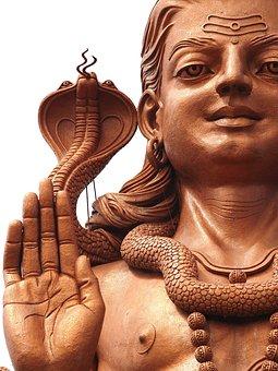 Religion, Hindu, Peace, Statue, Gad With Cobra