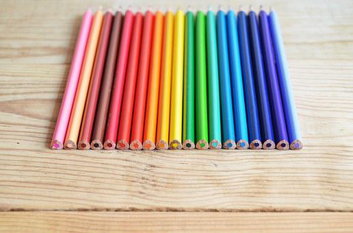 Pencil, Color, Colorful, Green, Tool, Sharp, Coffee