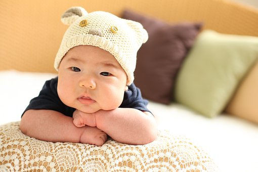 Baby, 50 Days, Profile, Cap, Pillow