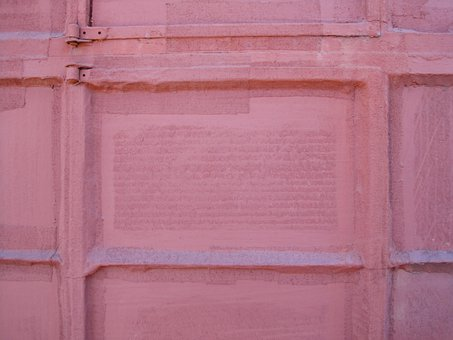 Pink, Entirely Covered, Painted Over Solidly, Window