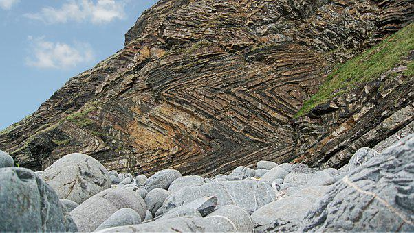Strata, Folded, Rock, Fold, Sedimentary, Geology, Cliff