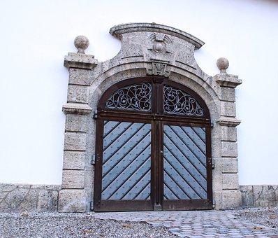 Input, Hinged Door, Double Door, Round Arch, Door, Wood