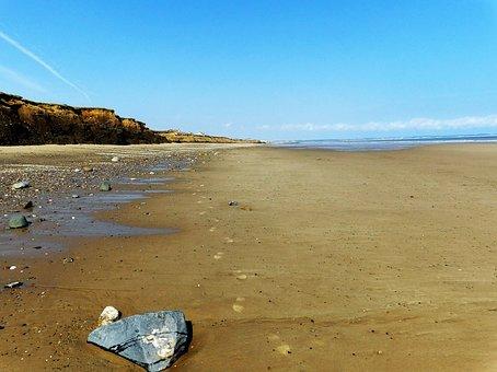 Sand And Sky, Beach, England, Yorkshire Coast