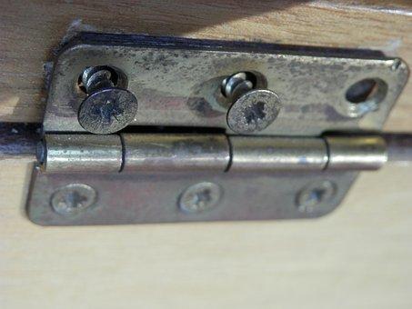 Fitting, Screw, Hinge, Metal Fitting
