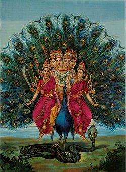 Pictures, Hindu, Deity, Murugan, Skanda, India