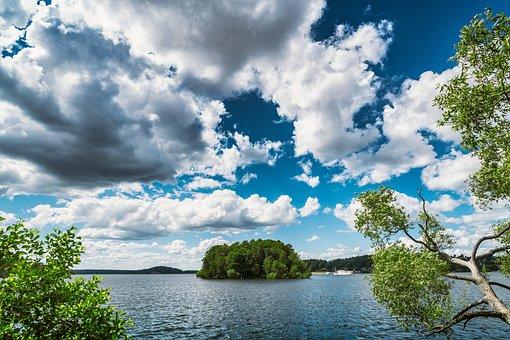View, Archipelago, Sweden, Stockholm, Summer, Landscape