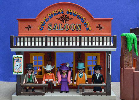 Playmobil, Western, Saloon, Usa, Molly, Bartender