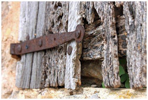Wood, Wood Worm, Hinge, Rots, Door, Input, Security