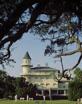 Jekyll Island, Georgia, Usa, Clubhouse, Golf Course