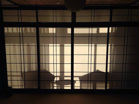 Shoji Screen, Evening, Japan, Japanese, Asia, Tourism