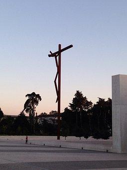 Fatima, Portugal, Sanctuary, Christ, Dusk