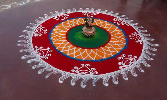 Rangoli, Colorful, Indian, Festival, Religion