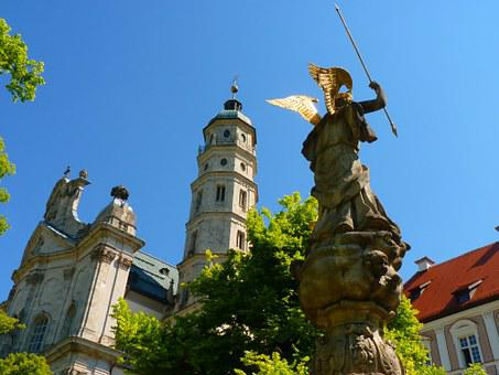 Neresheim Abbey, Michael's Fountain, Neresheim, Fig