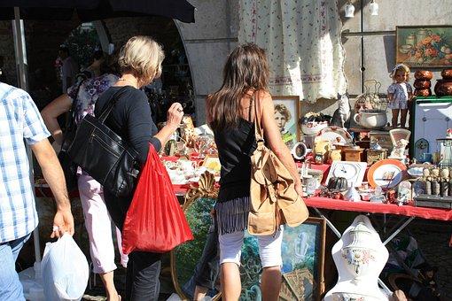 Flea Market, Box, Browse, Junk, Old, Doll, Search