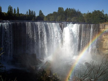 Waterfall, Water, Force, Water Mass, Spray, River