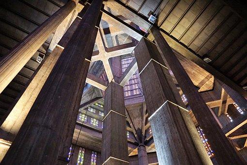 Church, St Joseph, Catholic, France, Le Havre, Light