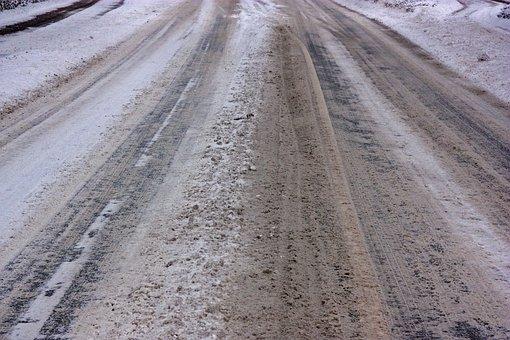 Icy Roads, Snow Smoothness, Slush, Winter, Road