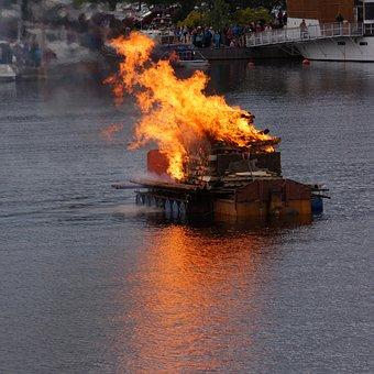 Bonfire, Finnish, Mikkeli, Midsummer, Public Event