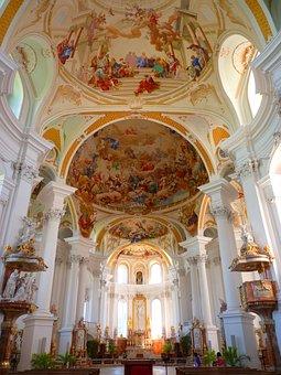Monastery, Abbey, Neresheim, Church