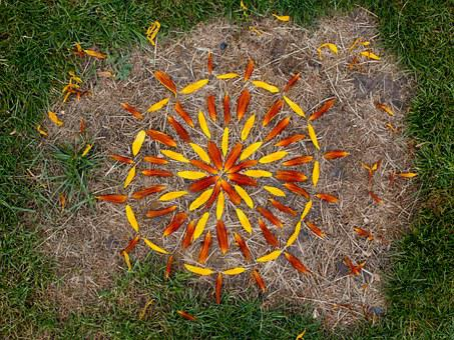 Rangoli, Nature Art, Landart, Flowers, Mosaic, Leisure
