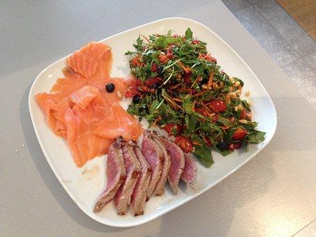 Power Supply, Food, Health, Salmon, Steak, Dinner