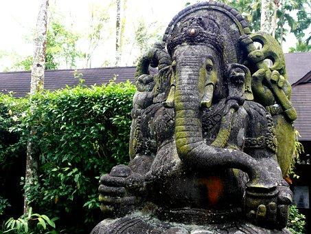 Ganesha, Elephant, Religion, India, Hindu, Bali
