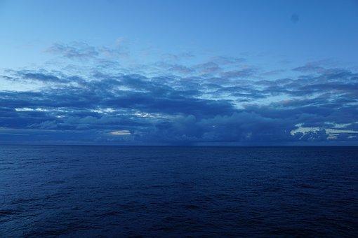 Sky, Atlantic, Sea, Ocean, Cruise, Transatlantic, Sail