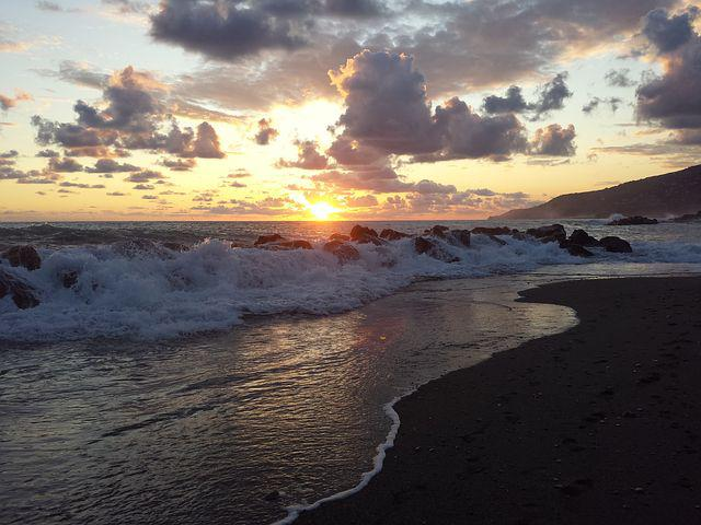 Sunset, Storm, Tyrrhenian, Calabria