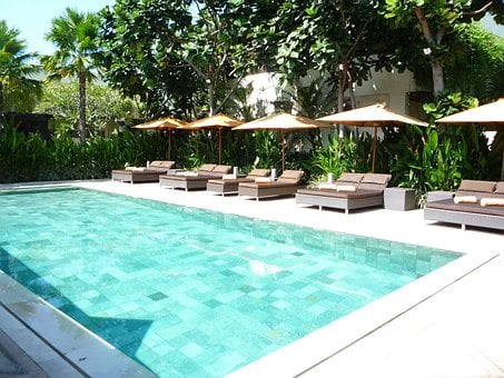 Swimming Pool, Indonesia, Bali, Poolside, Relaxation