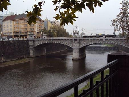 Bridge, Tjechie, Water, Riverside, Old Town, Park