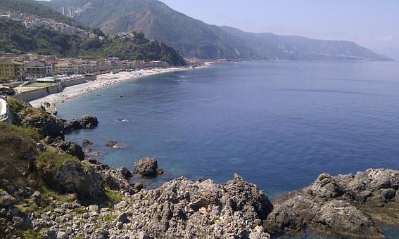Sea, Holidays, Holiday, Cliff, Water, Calabria, Costa