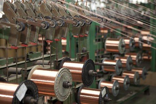 Cable, Wire, Bare Copper Wire, Factory