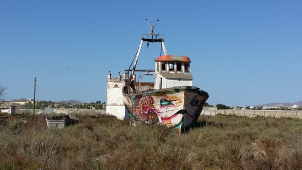 Boat, Sand, Shark, Mediterranean, Sun, Holiday