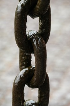 Links Of The Chain, Chain, Iron, Metal, Connection