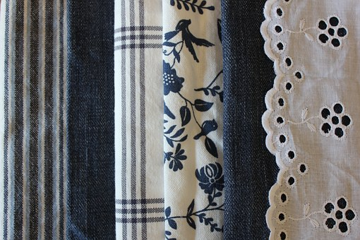 Fabric, The Cotton Fabric, Denim, Blue, Match