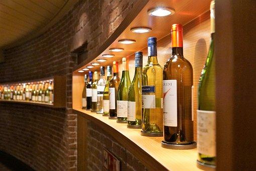 Wine, Shelf, Wine Shop, Cork, Bottle, Alcohol, Drink