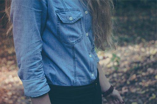 Denim, Shirt, Fashion, Long Hair
