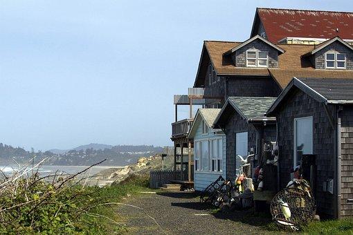 Beach, Shoreline, Fisher, House, Building, Landscape