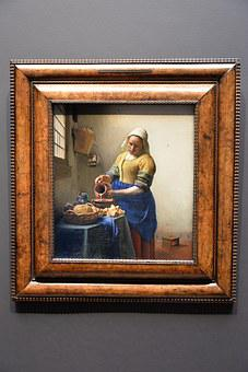 Vermeer, Dairy, Painting, Light, Golden Age, Holland