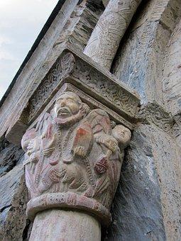 Capital, Serrabone, Priory, Monastery, Romanesque