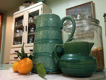 Vintage, Mccoy, Orange, Pottery, Kitchen, Satsuma