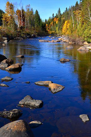 River, Autumn Landscape, Nature, Water, Trees, Rocks