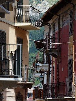 Entraque, Road, Alley, Village, Bergdorf, Piedmont